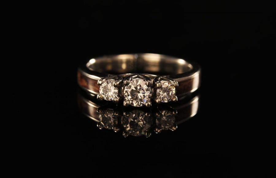Jewelry 3 Stone Wooden Engagement Ring 2419028 Weddbook