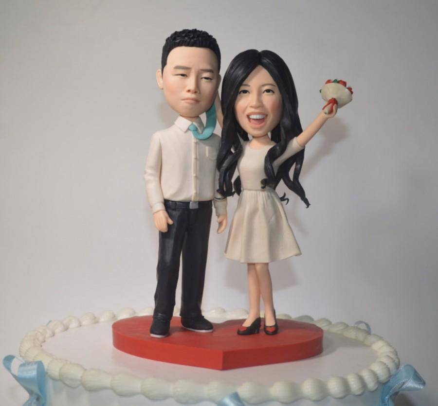 Wedding Cake Topper Personalized Toppers Funny Cartoon Bride Groom