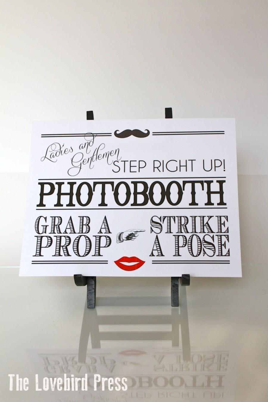 Mariage - Wedding Photobooth Sign - Printable Photo booth Sign - Instant Download - PDF - DIY - AA1