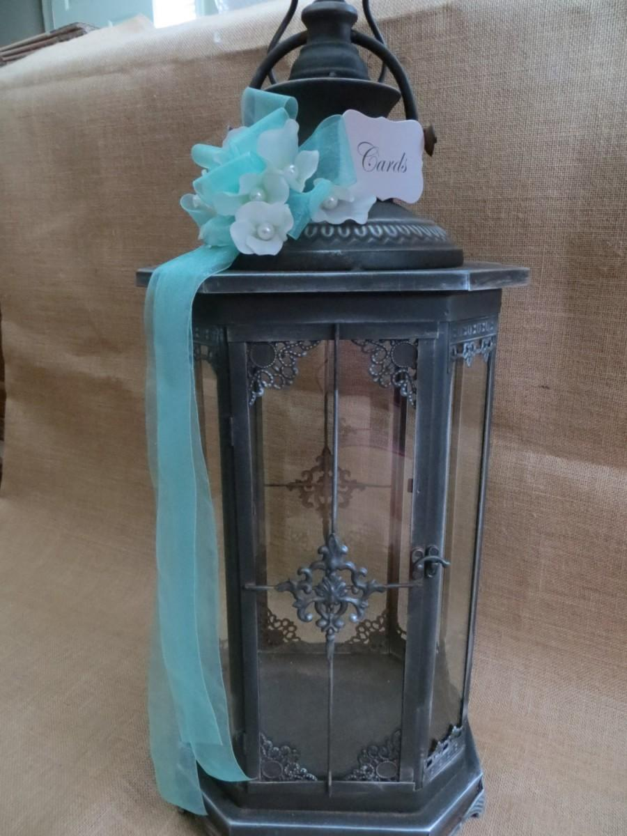 Elegant Wedding Lantern Card Holder Money Box Cash: Wedding Card Box For Cash At Reisefeber.org
