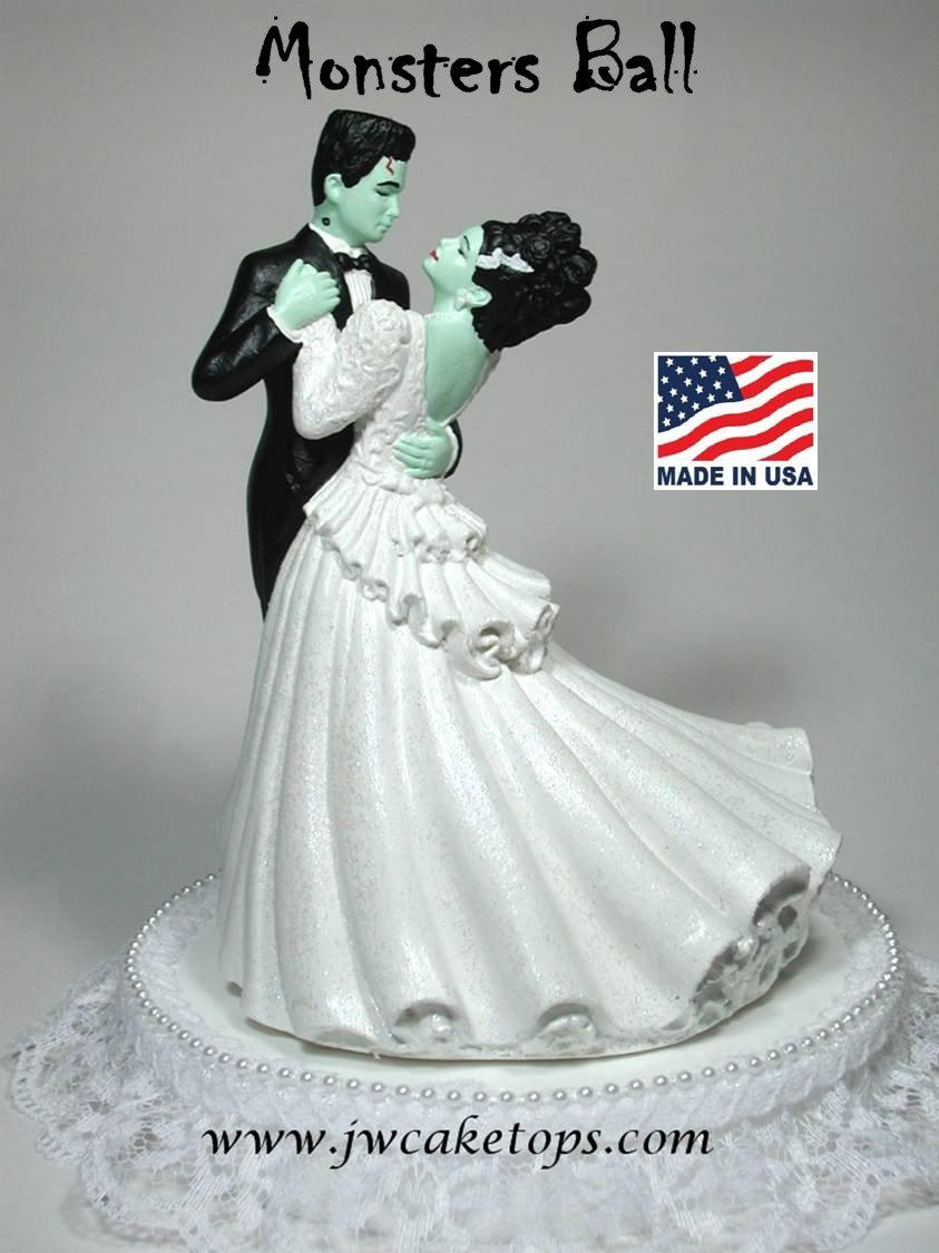 Mariage - Frankenstein Halloween Wedding Cake topper 48MB