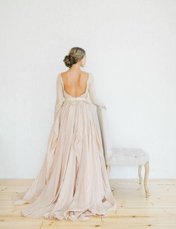 Mariage - Romantic Silk Batiste And Lace Lining Wedding Dress