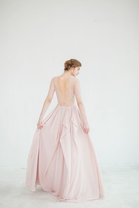 Hochzeit - Blush Wedding Dress // Magnolia - Only One Size! (see The Measurements In The Description)