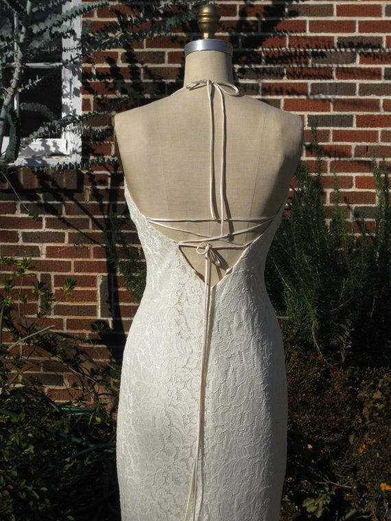 Hochzeit - Creme Lace And Silk Charmeuse Bias Cut Gown One Of A Kind Reserved For Kezeigler