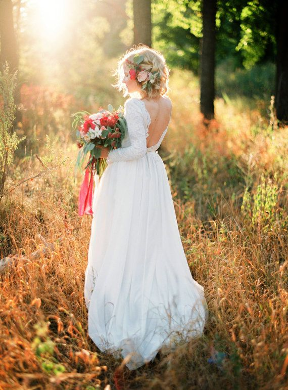 Wedding - Romantic Silk Batiste And Lace Lining Wedding Dress