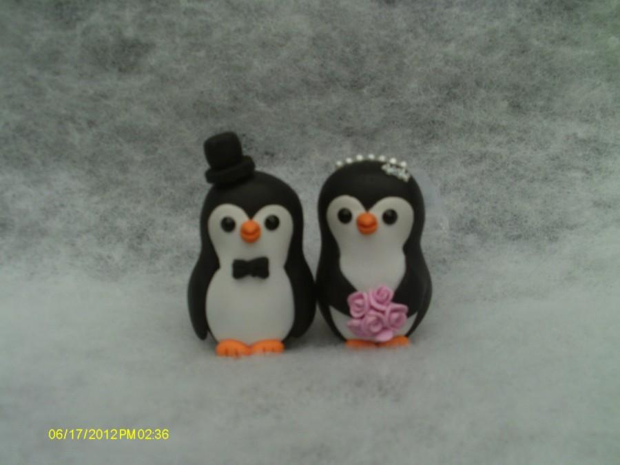 Mariage - Penguin  cake toppers