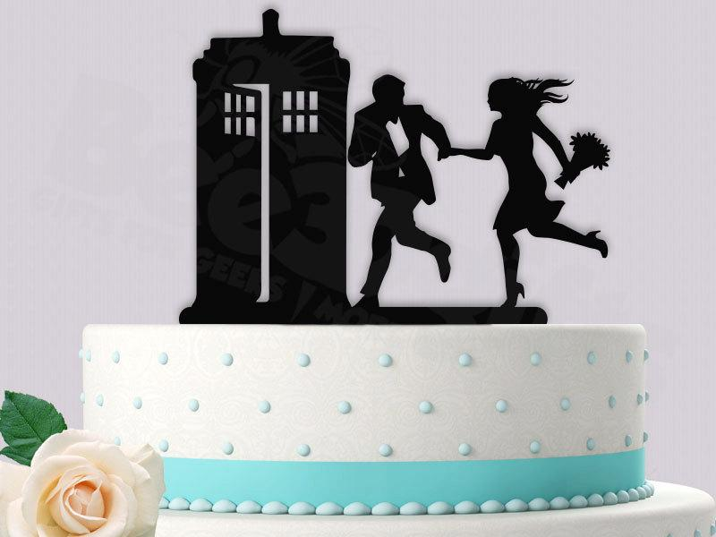 Mariage - Dr Who Cake Topper Hurry to the Tardis
