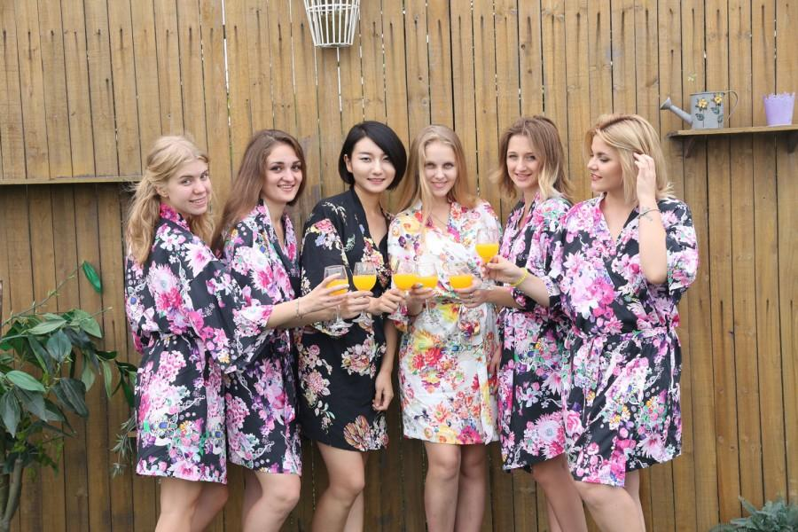 Bridesmaid Robes Cotton,kimono Robe,bridal Party Robes,bridesmaid ...