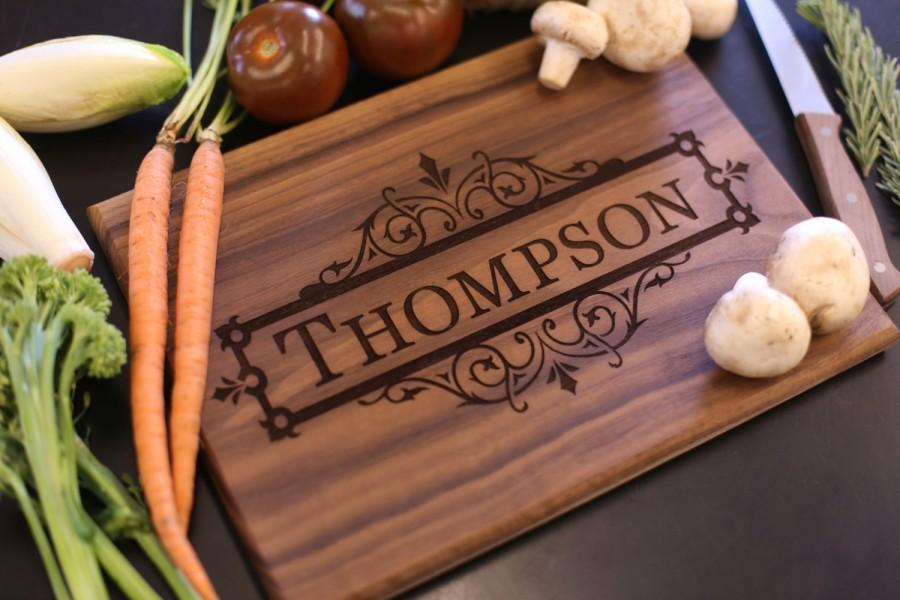 Wedding Gift Personalised: Personalized Cutting Board Christmas Gift Bridal Shower