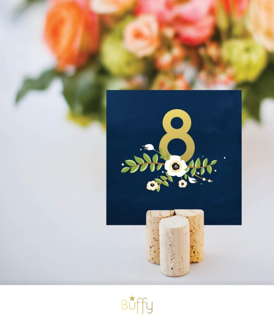 The Alyssa Wedding Table Number Signs 1 24 Gold