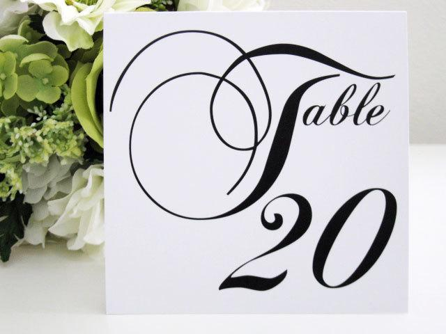 Mariage - Table Numbers--Wedding--Reception-- Tent Style--The Elegant Collection-- Customize--Colors can be changed