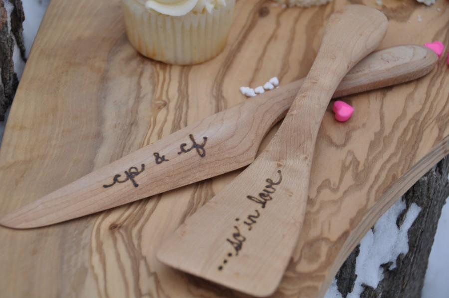 Wedding Gift Knife Set : set wedding cake knife personalized wood wedding gift rustic wedding ...
