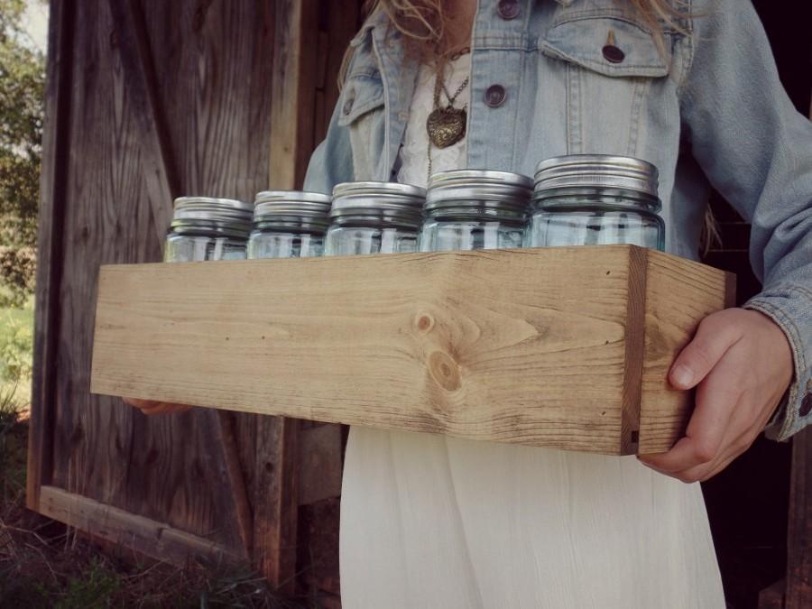 Свадьба - Wood Box Centerpiece Mason Jar Wedding Centerpiece Wood Crate Mason Jar Storage Planter Box Rustic Home Decor
