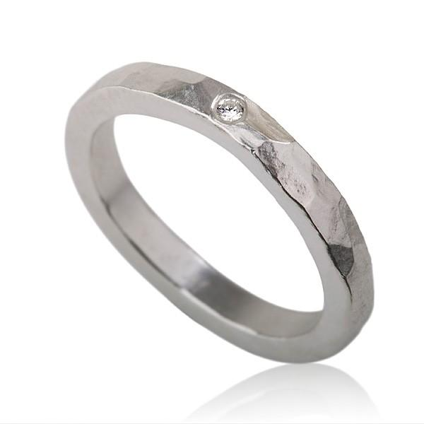 Свадьба - Silver Zircon Engagement Ring, Sterling Silver Wedding Band with a single Zircon, Silver and Zircon Ring,