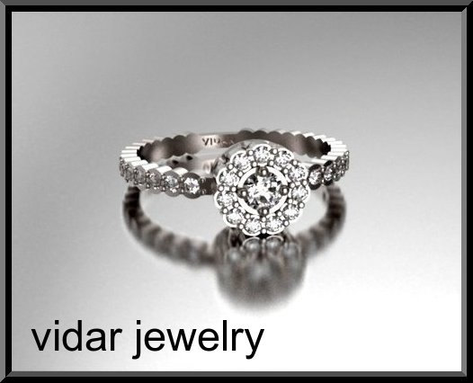 Свадьба - Flower Engagement Ring,Diamond Engagement Ring,Halo Engagement Ring,Unique Engagement Ring,14K Gold Engagement Ring,Womens Engagement Ring