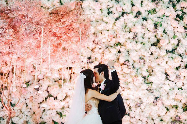 Socially Conscious Wedding With A Standout Flower Wall Boaz And Sue Ann 2419461 Weddbook