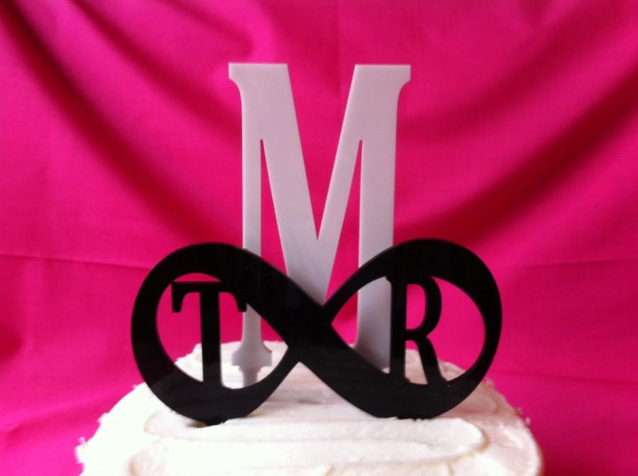 Hochzeit - INFINITY WEDDING Cake Topper