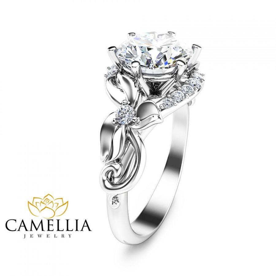 jewelry handmade with moissanite two idea of wedding rings awesome gift unique gold tone ring diamonds engagement camellia floral