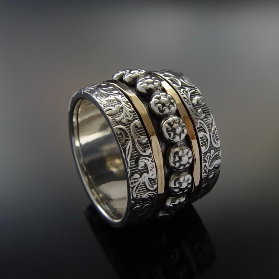 ring nzek wide fullxfull il finish wedding au silver band bands listing sterling mens zoom rough
