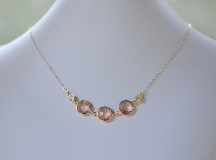 Champagne Gold Fashion Jewel Statement Necklace In Shades Champagne