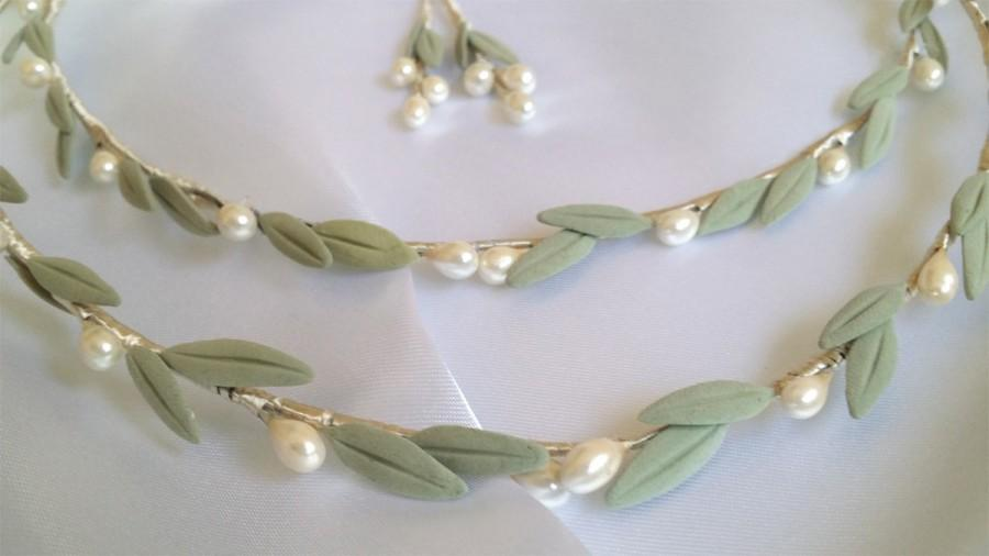 Hochzeit - Stefana Wedding Crowns Ancient Greek Style Olive Leaves Stefana/Tiaras/Stephana