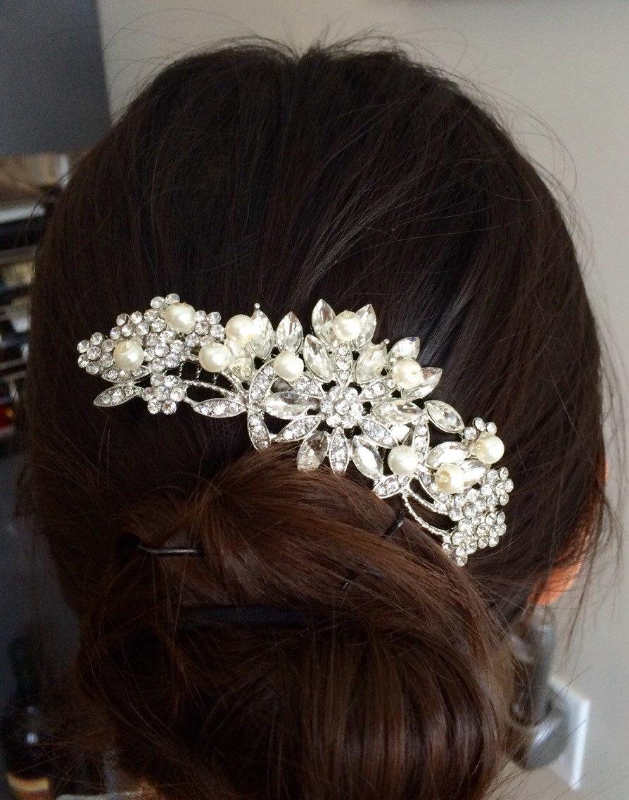 Wedding - Wedding hair comb, Pearl bridal hair comb, bridal hair accessories, wedding hair accessories, crystal hair comb, vintage comb, hair acessory
