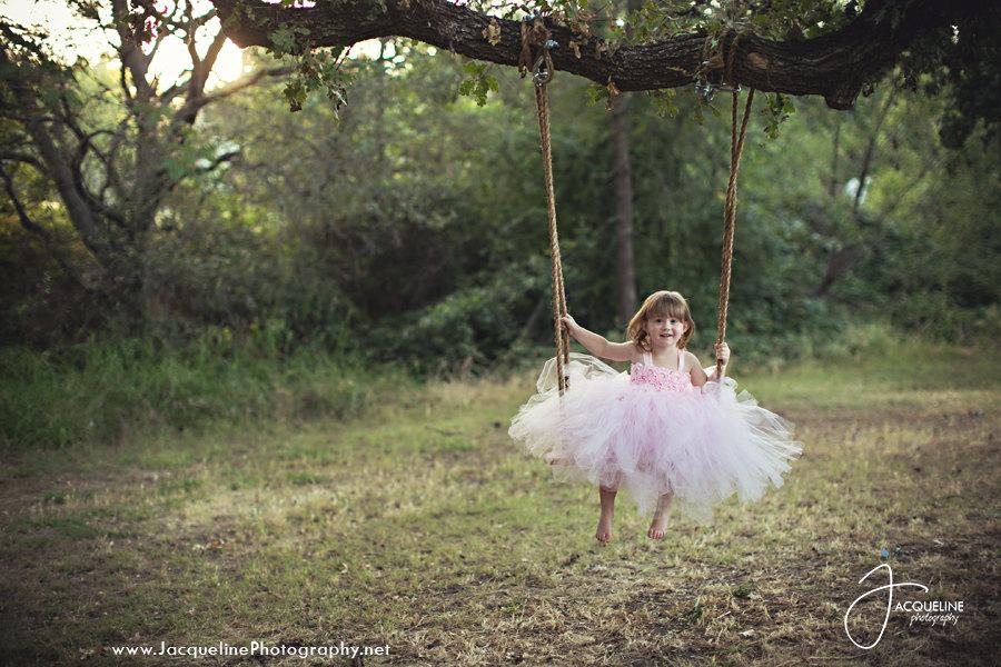 زفاف - Blush Pink Lightest Pink Baby pink Ivory/White Flower Girl Dress Tulle Dress Wedding Dress Toddler Tutu Dress 1t 2t 3t 4t 5t Morden Wedding