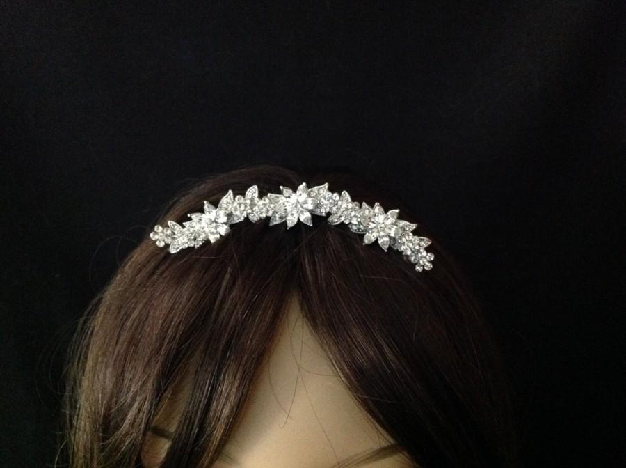 Mariage - Bridal Wedding Tiara - Rhinestone Bridal Comb - Bridal Headpiece - Bridal Hair Comb