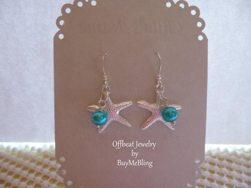 Starfish Beach Wedding Earrings Jewelry Pearl