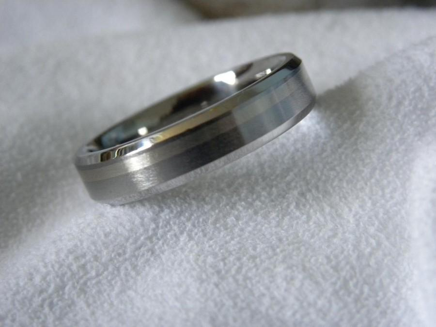 Wedding - Titanium White Gold Ring or Wedding Band