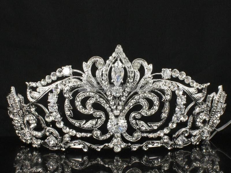 Свадьба - Hi-Q Clear Swarovski Crystals Tiara Crown Women Wedding Bridal Jewelry JHA8372-5 …