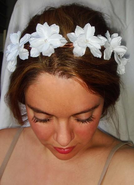 Weddings white flower crown headband headpiece lyla flower weddings white flower crown headband headpiece lyla flower headband accessories bridal flower girl halo headband white flowers mightylinksfo