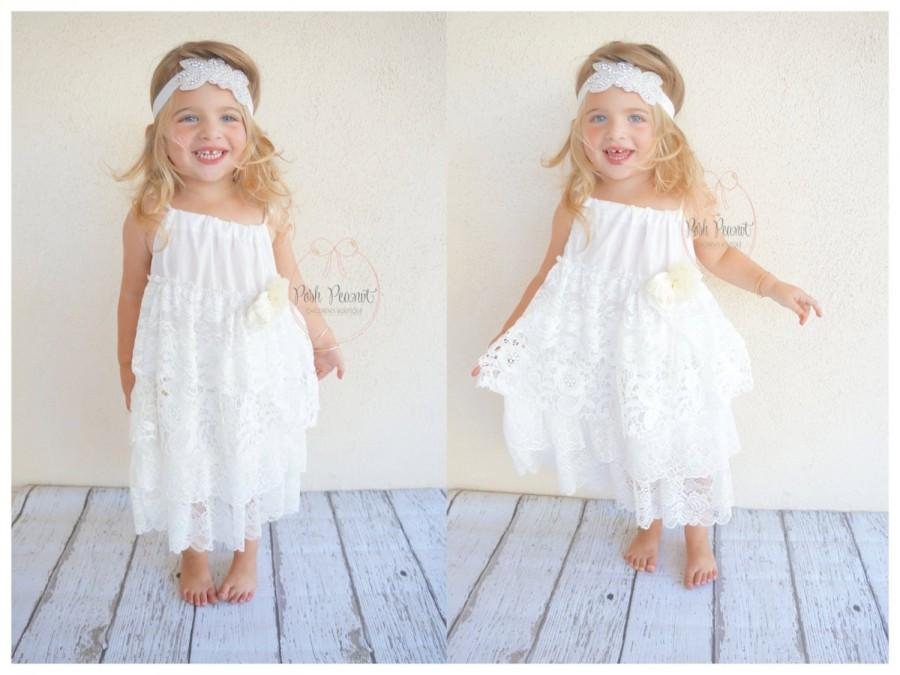 White Flower Girl Dress Baby Dress Flower Girl Dresses Lace ...