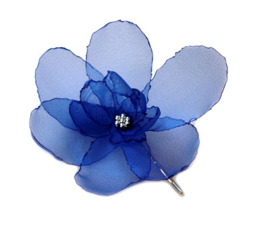 Hochzeit - romantic Sapphire rose blossom flower bobby pin