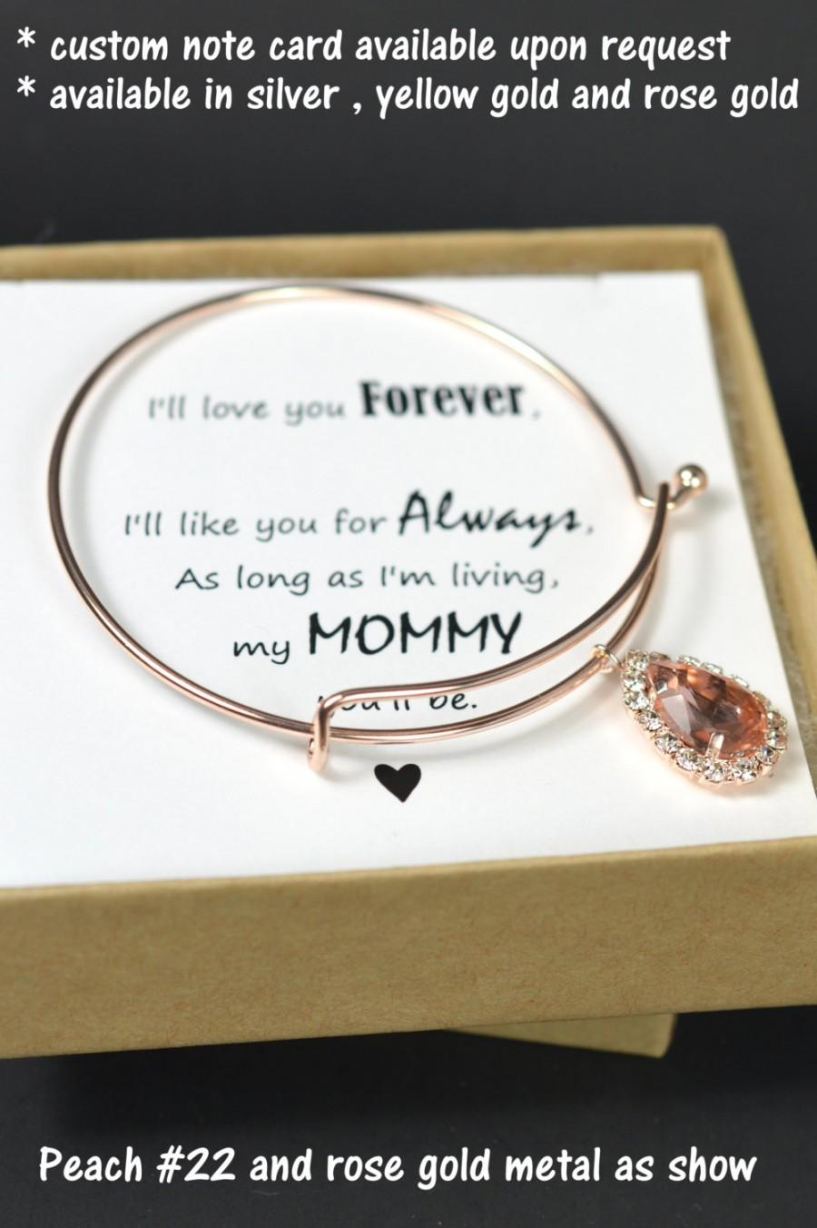 Mariage - Mom,Mother of the Bride Gift,Personalized Bridesmaids Gift,Mother of the Groom Gifts,Bridal Party Gift,Bridal Party Jewelry,Wedding bracelet