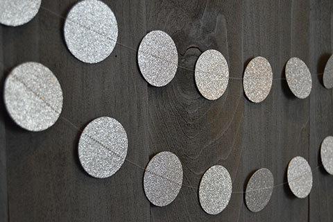 Mariage - Silver Glitter Garland, Wedding Garland, Glitter Garland, Glitter Wedding Garland, Glitter Paper Garland, Paper Garland, Silver, Sparkle