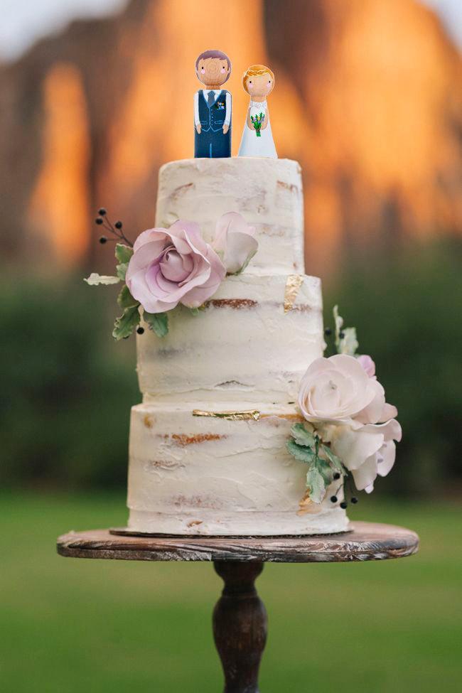 Свадьба - Bohemian Wedding Cake Toppers. Custom Wedding Cake Toppers. Bride and Groom Wedding Cake Topper. Boho Wedding Decoration.