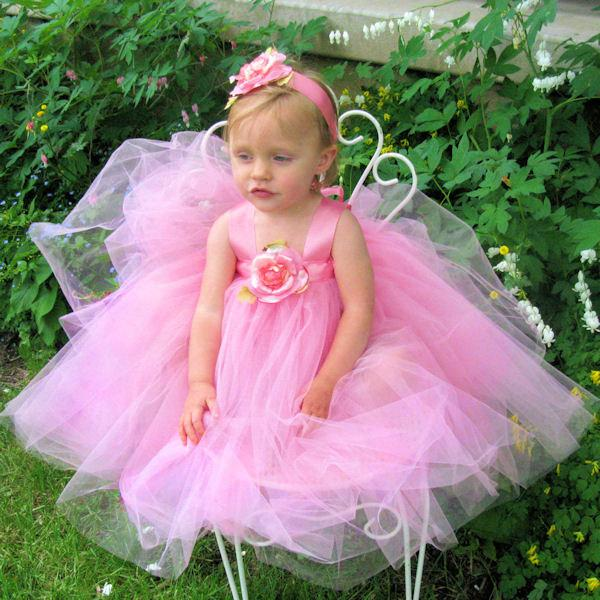 Mariage - Flower Girl Dress Tutu - Bubblegum Pink Tutu Dress - Tulle Flower Girl Dresses - Pink Tulle Flower Girl Dress - Tutu Dresses for Girls Tutus