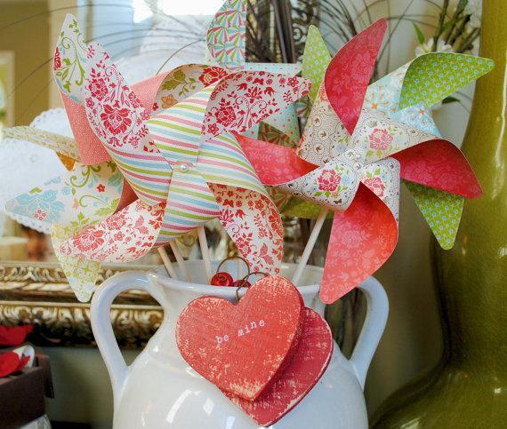 Mariage - Love Spell pinwheels love and romance set of 6 Large Pinwheels