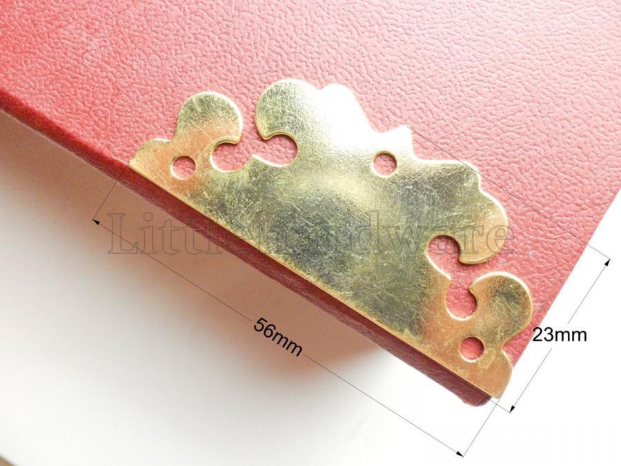 Свадьба - 8PCS 56mm X 23mm Golden clouds Vintage Decorative Corner Bracket for Chest Case Box