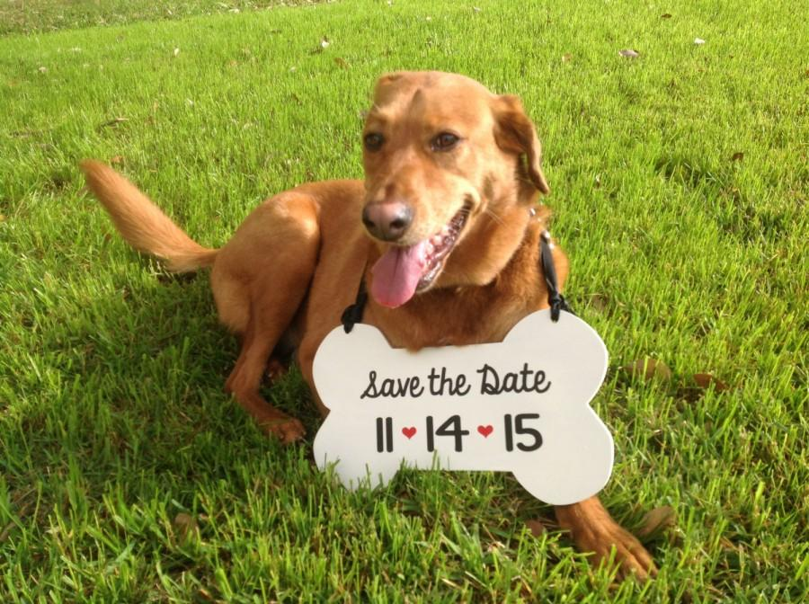 Mariage - Dog Sign, Save the Date - Bone sign, Engagement photo, Wedding Sign, Engagement photo prop, Save the Date photo prop