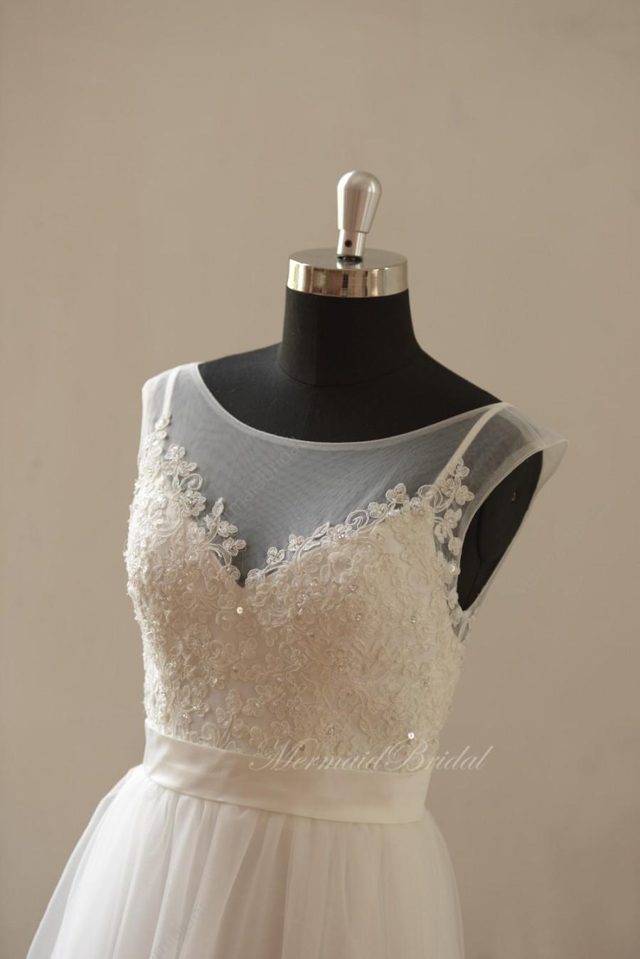 زفاف - A-line beach/destination beading wedding dress