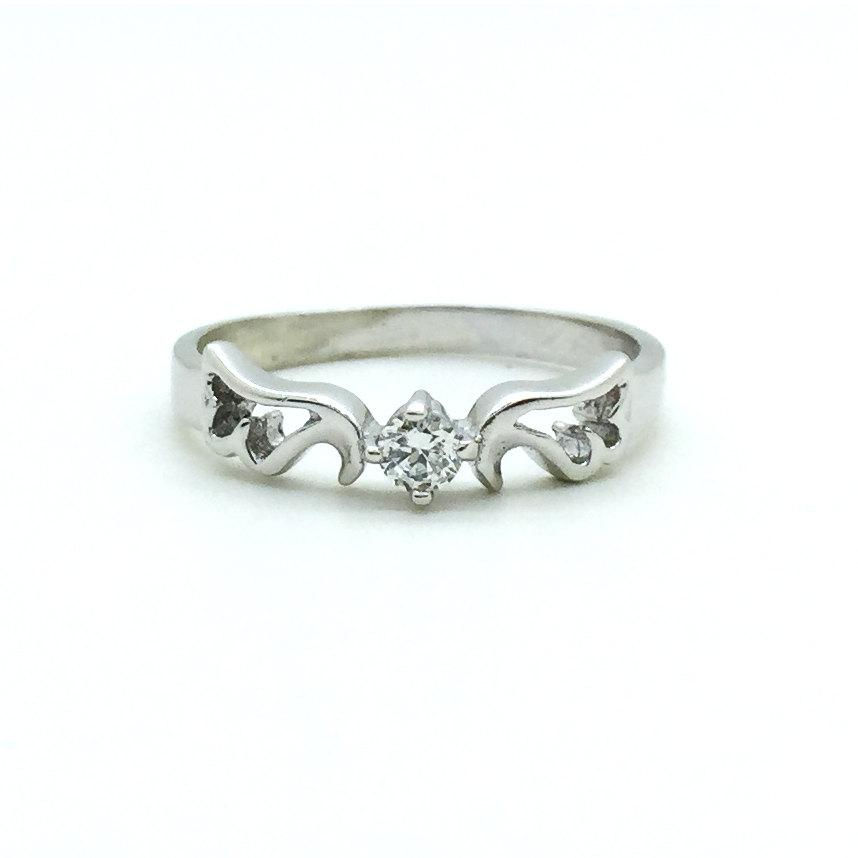 personalized sterling silver wings promise ring for