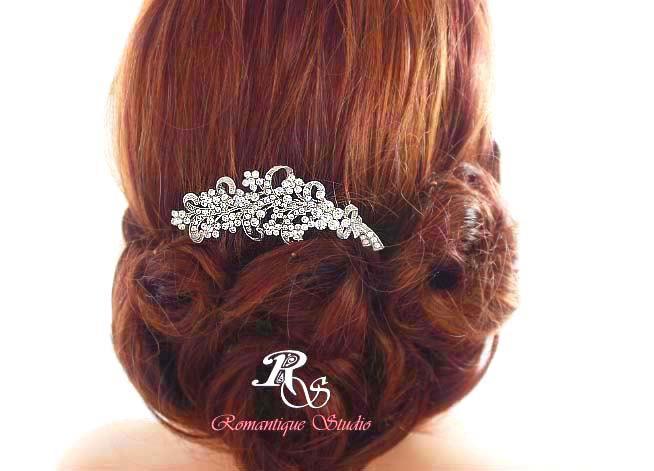 زفاف - Wedding comb vintage style bridal hair comb rhinestone hair comb crystal hair comb bridal hair accessories 5120
