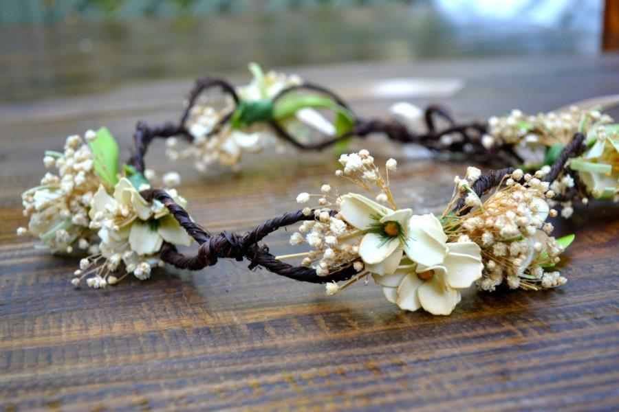 زفاف - White / Cream Flower Crown/ Artificial Flower Crown/ Flower Halo / Flower Headband OTHER COLORS AVAILABLE