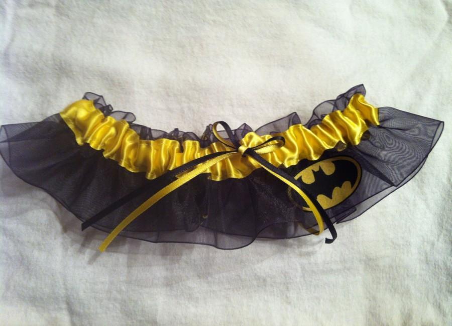 Wedding - Batman Wedding Garter - Plus Size Also Available