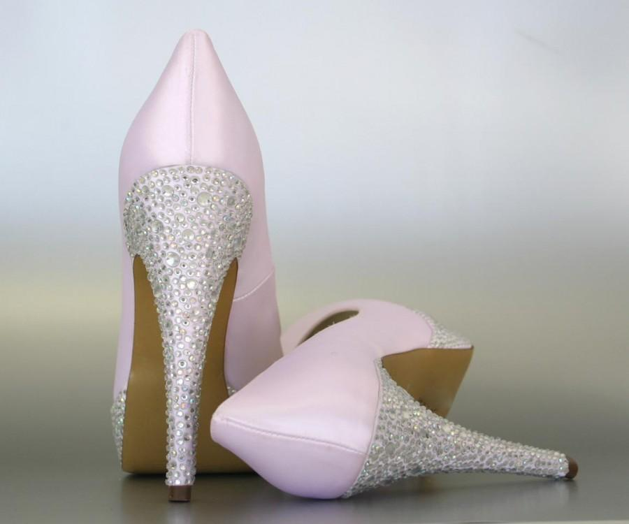 e4c6c9e216ac Wedding Shoes -- Paradise Pink Platform Wedding Shoes with Silver  Rhinestone Heel and Platform -- CHOOSE YOUR COLOR