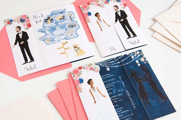 Hochzeit - 4 Unique Wedding Invitation Ideas To Inspire You