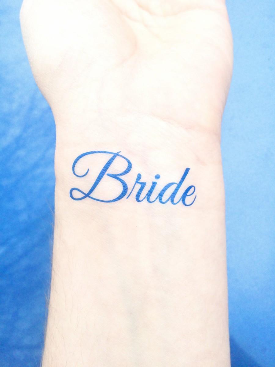 Свадьба - Something Blue - Temporary Tattoo - Bride Tattoo - Wedding Tattoo