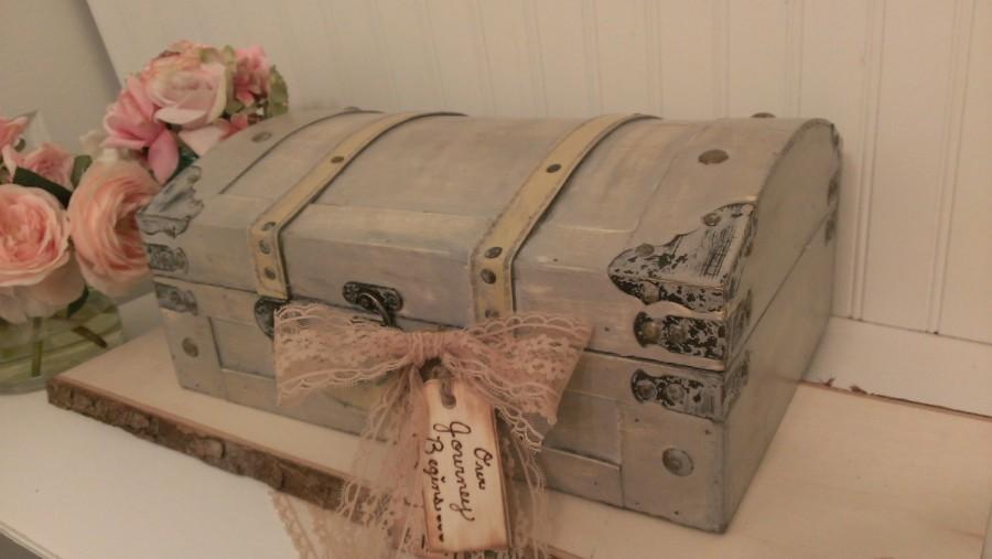 Vintage Wedding Card Box Luggage Shabby Chic Decor Trunk Tr105